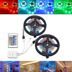 10M SMD2835 Niet Waterdicht 600 LED RGB Strip Flexibele Tape Light Kit + 24 Keys Controller DC12V