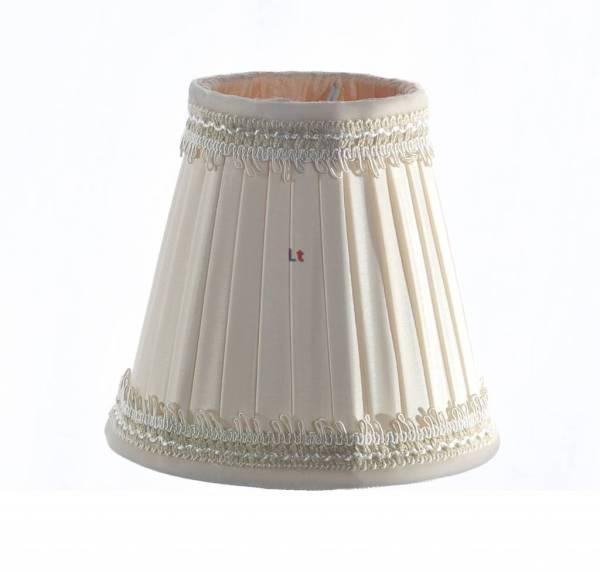 Klemkapje Klassiek Plooikap Creme Zalm 11cm