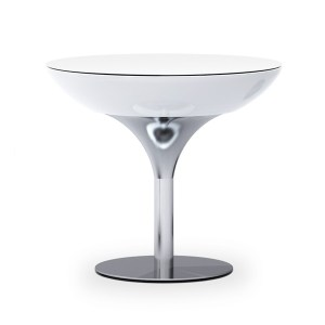 Moree Lounge Table 75 Wit Verlicht