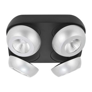 Highlight Spot Doblo 4 lichts 25 x 25 cm aluminium zwart