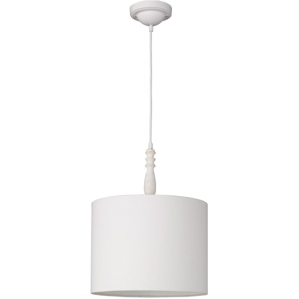 LED Hanglamp - Trion Hody - E27 Fitting - Rond - Mat Wit - Hout