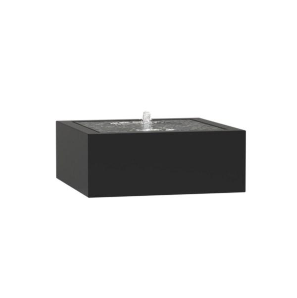 ADEZZ WATERTAFEL VIERKANT ALUMINIUM MET LED VERLICHTING EN POMP - 1000x1000x400MM