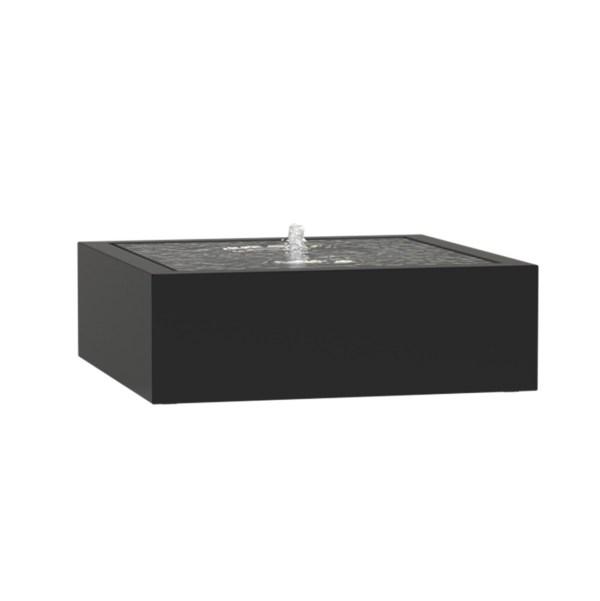 ADEZZ WATERTAFEL VIERKANT ALUMINIUM MET LED VERLICHTING EN POMP - 1200x1200x400MM
