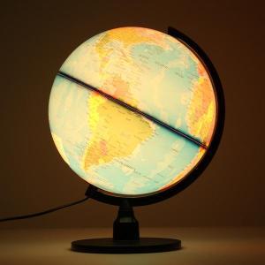 verlichte wereld earth globe roterende nachtlampje desktop decoratie