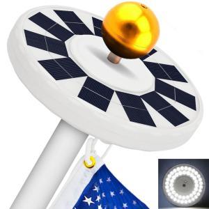 Solar Flag Pole Light 48LED Flagpole Solar Light Downlight Verlichting voor 15 tot 25 Ft Flag Pole Topper