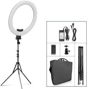 Travor RL-20A 20-inch LED-ringlicht Fotografische verlichting Make-upringlamp Tweekleurig 3200K-5500K voor Anchor Live