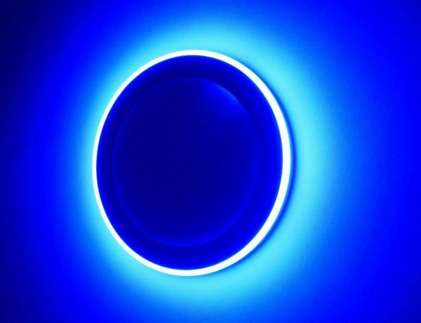 LED Panel Blau Ambiente