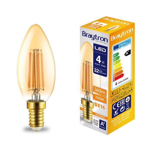 LED Leuchtmittel E14 Filament Kerze