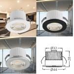 LED Mini Spot strahler Einbauleuchte Einbaustrahler