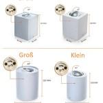 GU10 Aufbaustrahler Deckenspot Alu Aufbauspot 2