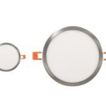 LED Panel Einbaustrahler Deckenleuchte Silber Einbauspot Downlight