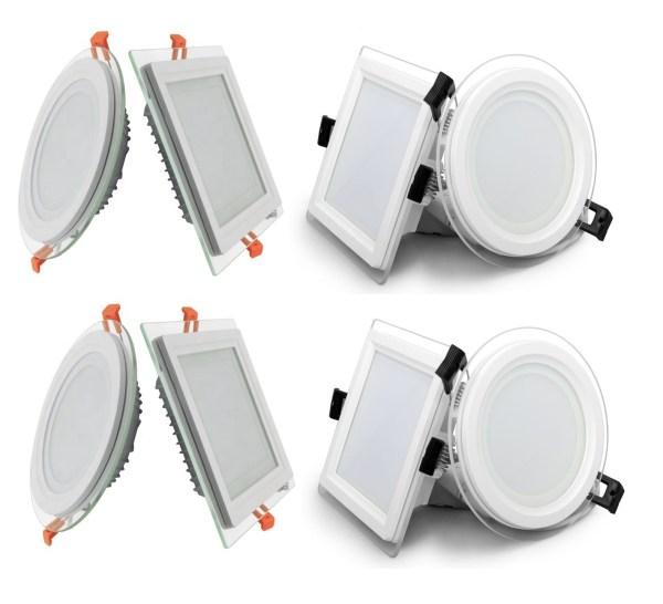 LED Panel Glas - Deckenlampe Einbaustrahler 6-18W | Watt