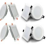 LED Panel Glas – Deckenlampe Einbaustrahler 6-18W | Watt