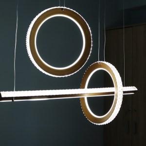 LED Ring Pendelleuchte Höhenverstellbar Kristall