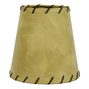 Buckskin lamp shade