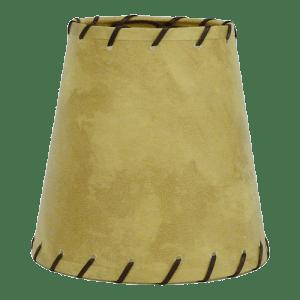 Buckskin lamp shade