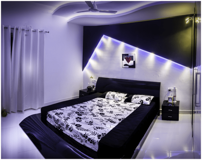 purple bedroom lights