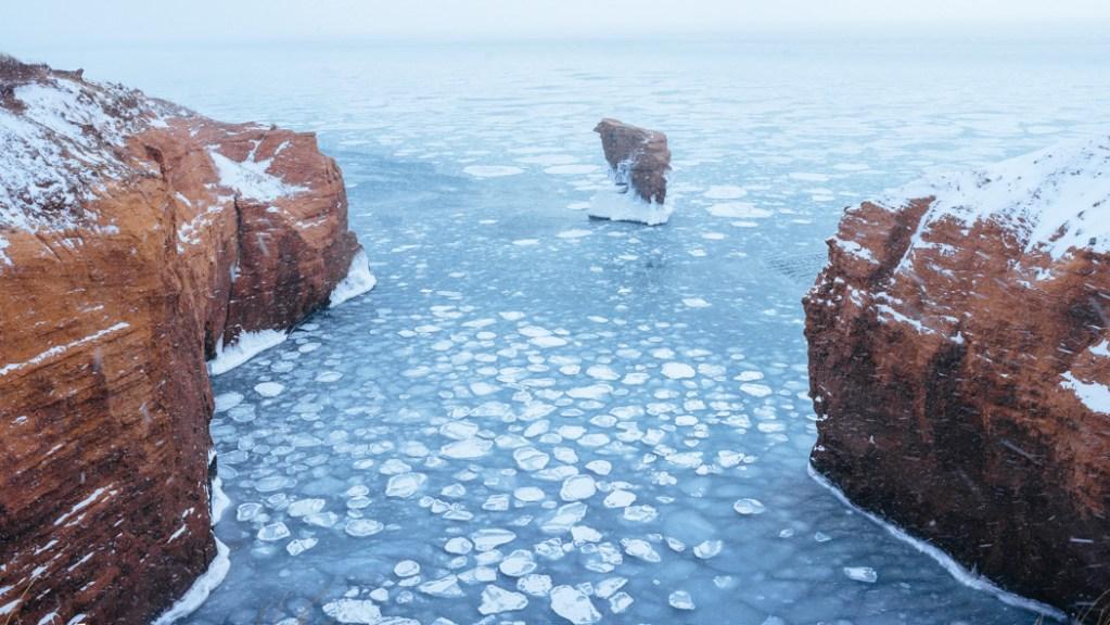 photo de paysage hivernal à Gros-Cap