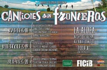 Flyer tomado de Barrio Colombia.en su facebook oficial.