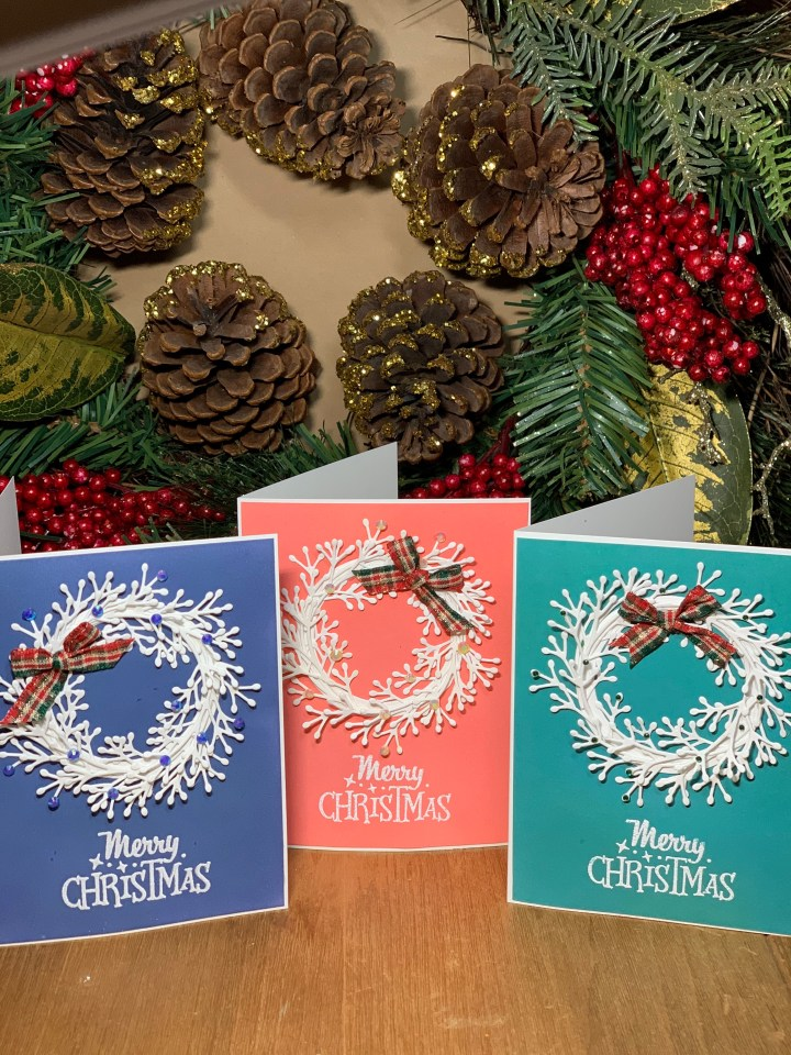 Handcrafted holiday greeting cards colorful and unique