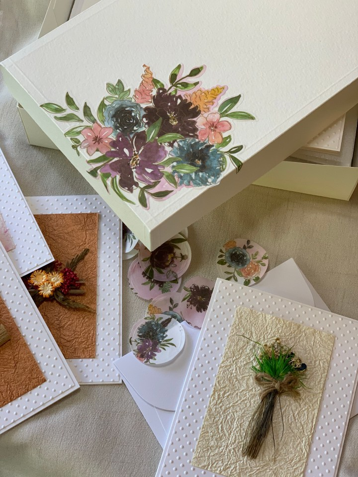 handcrafted high end greeting card sets customizable and personalized