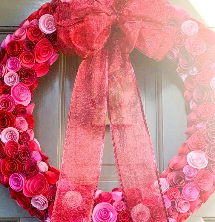 Valentine's Day Decor – Rose Wreath