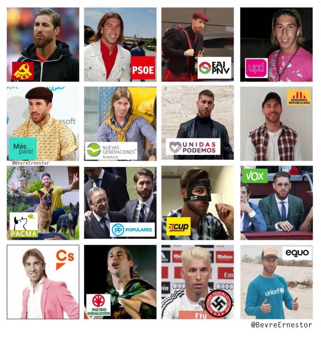 Los memes de Sergio Ramos como votante de todos los partidos