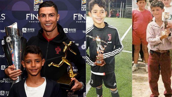 La foto de Cristiano de su infancia y el asombroso parecido con su hijo - Deportes Cuatro