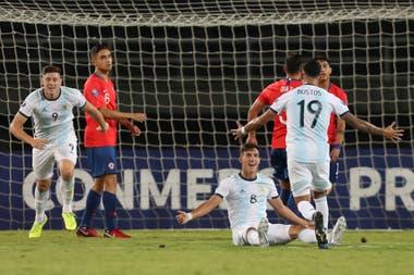 Argentina le ganó a Chile por el Preolímpico y llegó a la punta del grupo