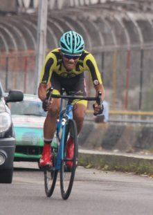 Foto/ Johnny Parra- Carlos Gálviz (Deportivo Táchira), gran favorito para la etapa al cronómetro, sucumbió ante el poder de su colega costarricense.