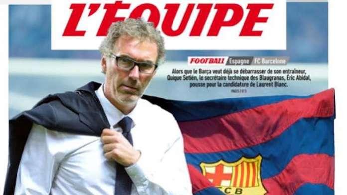 L'Equipe pone a Laurent Blanc como sutituto de Quique Setién en el Barcelona