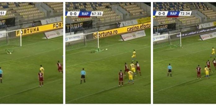 A lo Martín Palermo: patearon tres veces un penal y no fue gol