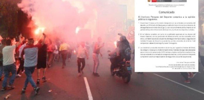 Regresó el fútbol en Perú, pero lo volvieron a suspender: los hinchas rompieron todos los protocolos