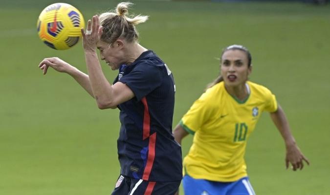 Estados Unidos batió a Brasil en Copa SheBelieves