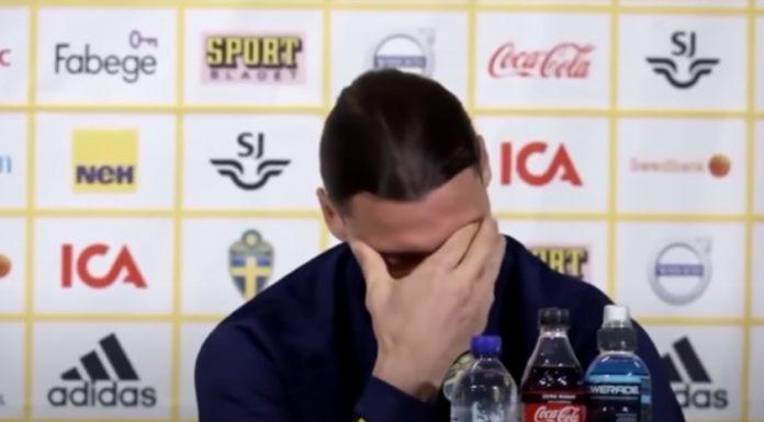 Zlatan Ibrahimovic rompe en llanto durante una rueda de prensa
