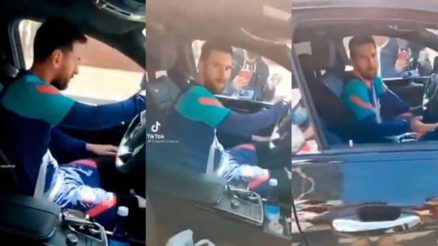 Lo que hizo Messi ante el acecho de unos aficionados