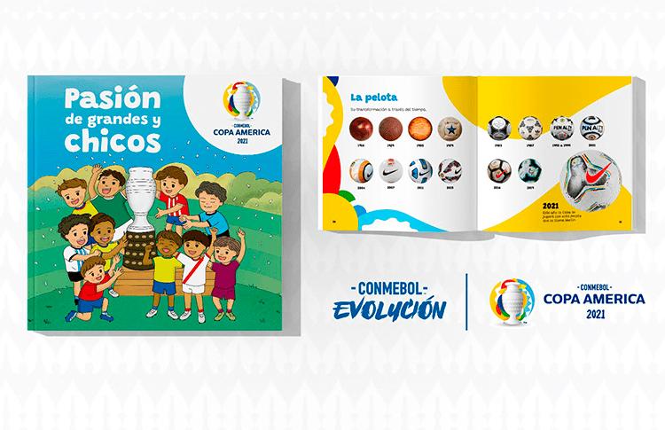 Copa América lanza libro ilustrado para los más chicos