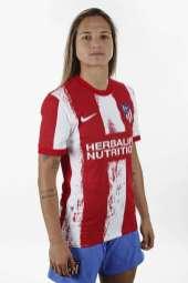 Deyna Castellanos es imagen del Atlético de Madrid en la presentación oficial de su nueva indumentaria