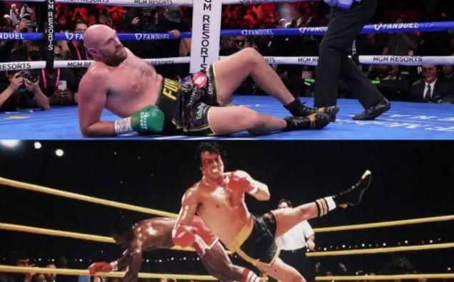 Tyson Fury cita a Rocky como inspiración para levantarse de la lona en el 4to round contra Wilder