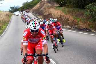 El equipo Androni Giocattoli Sidermec estuvo controlando la etapa a lo largo del recorrido y al final, de nuevo, con Luca Pacioni pelearon el triunfo, sin que se les pudiera dar en esta ocasión. (Foto: Carlos Eduardo Ramírez)