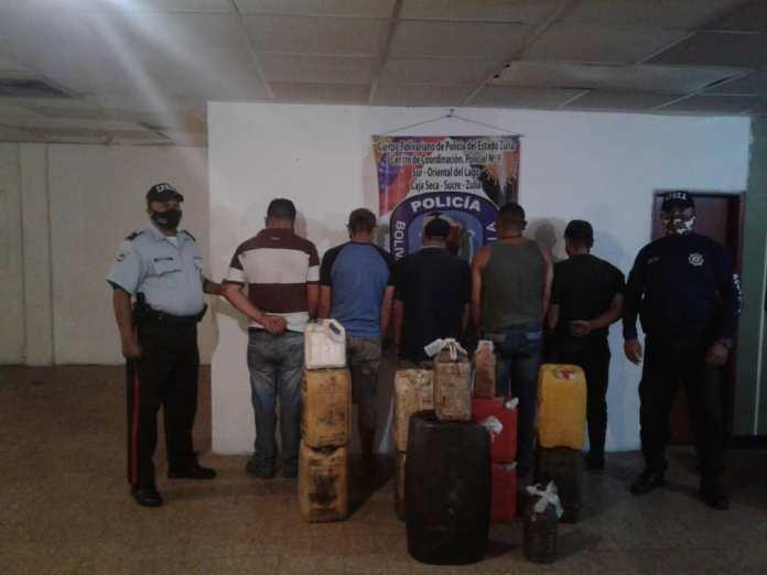 Detenidos cinco tachirenses en el Sur del Lago por contrabando de combustible