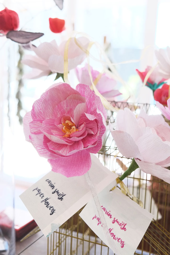 Paper flower creations by Carin Smith at Stalk of The Town