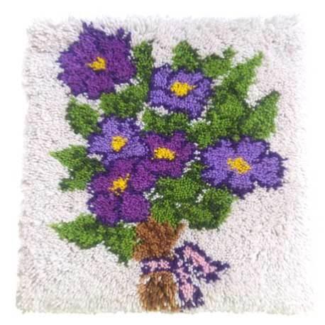 Cojín Ramo de Violetas