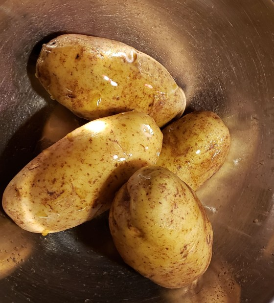potato with oil