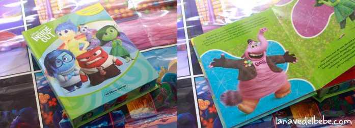 libro con figuras de Inside Out