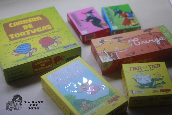 Selección de juegos de mesa, diamoniak, carrera de tortugas, Twiga, Tier von Tier, y Prinzessin Zouberfee de haba