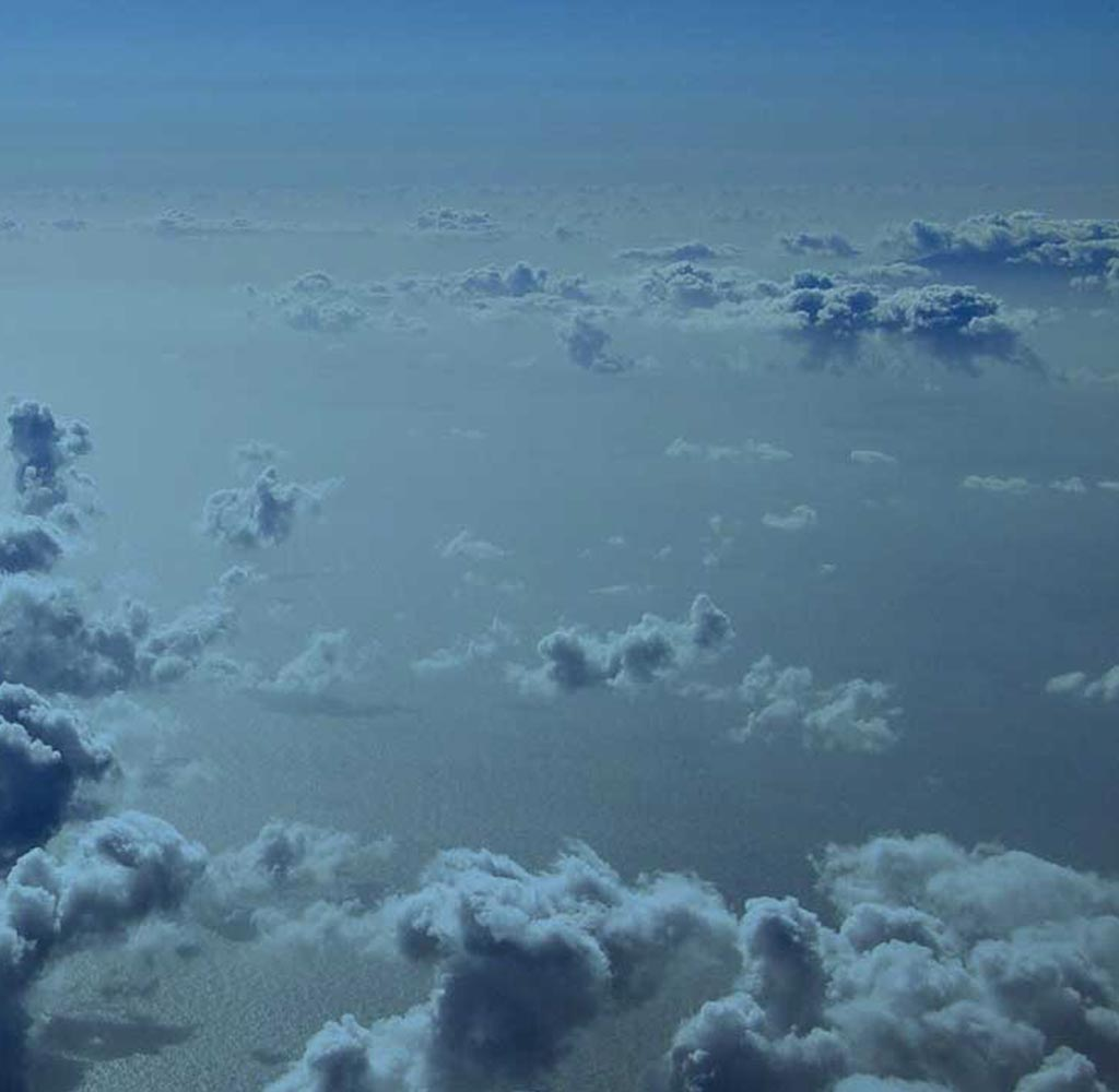 blue clouds background