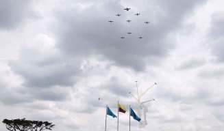 Calima T-90s in the air