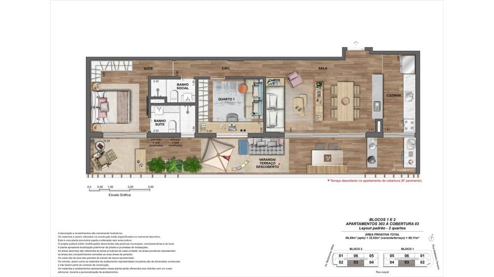 Apartamento 2 quartos à cobertura 03