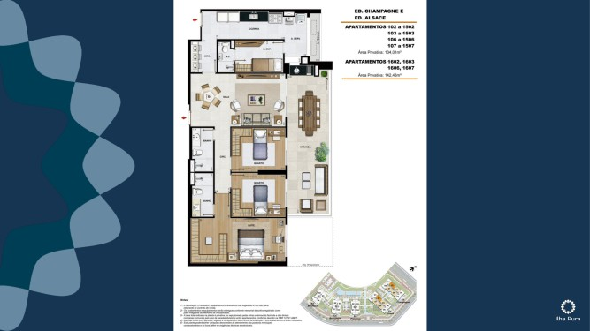 Apartamento 2 quartos 1 suítes